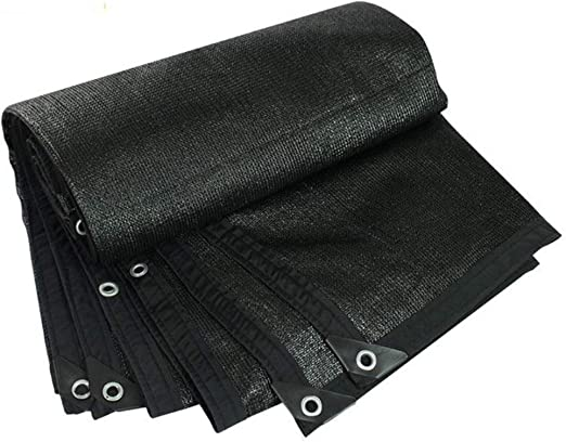 LJFPB Malla de sombreo Cubierta de Malla Negra UV 90% Borde Cortado con Ojales for Invernadero, Granero, Perrera, Pérgola o Piscina (Color : Black, Size : 3x4m): Amazon.es: Jardín