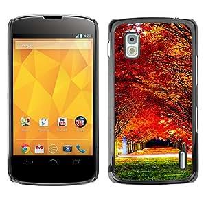 "For LG Nexus 4 E960 , S-type Bosques de arce del otoño"" - Arte & diseño plástico duro Fundas Cover Cubre Hard Case Cover"