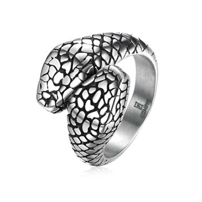 Anyeda Bijoux de Mariage pour Homme Acier Inoxydable Baguettes À Double Serpent Wedding Bands Ring PHBJZ-303