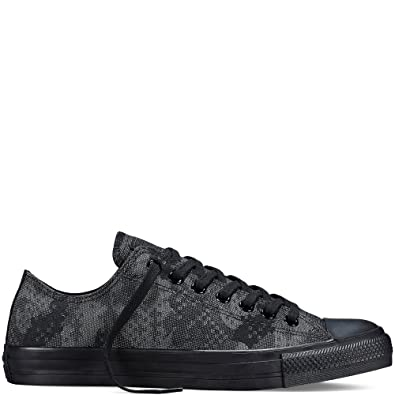 Converse Women's Jacquard Camo Ox Lace Up Trainer Black / Storm Wind