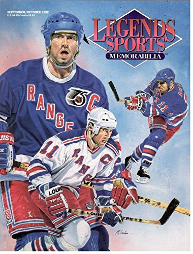 Legends Sports Memorabilia October 1992 - Mark Messier Cover