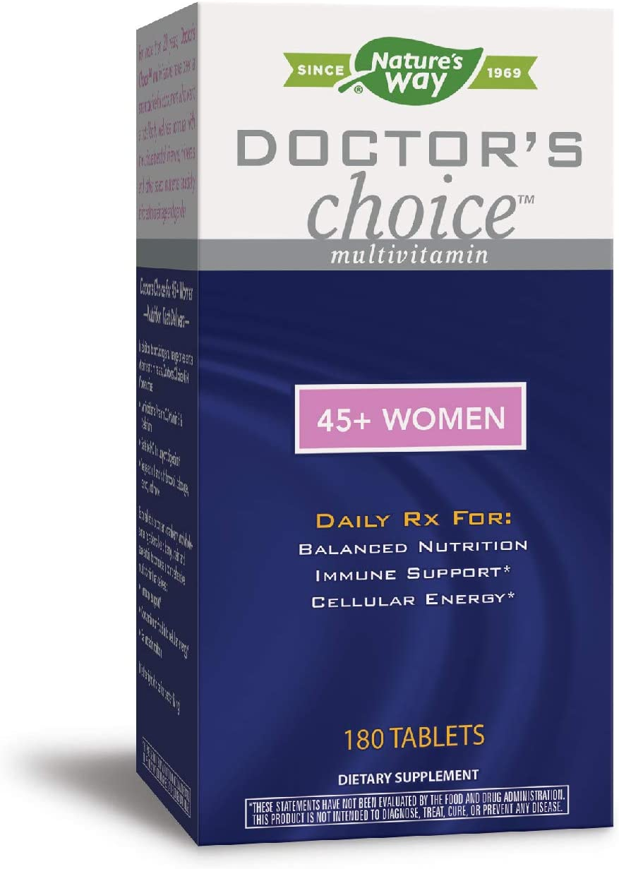 Nature s Way Doctor s Choice Multivitamin 45 Women, Immune Support, B Vitamins, 180 Tablets