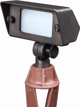 Solid Brass Low Voltage LED Spot Light-Landscape Lighting with LED Bulb Included