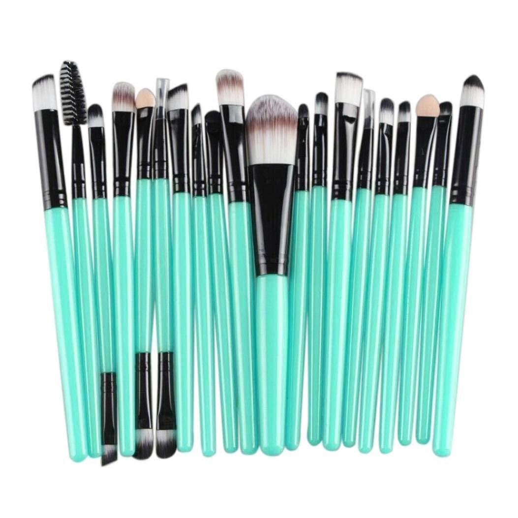 Cinidy 20 Pcs Makeup Brush Set Tools Make Up Toiletry Cosmetic 11 With Pouch Kuas Kit Wool Black Home Kitchen