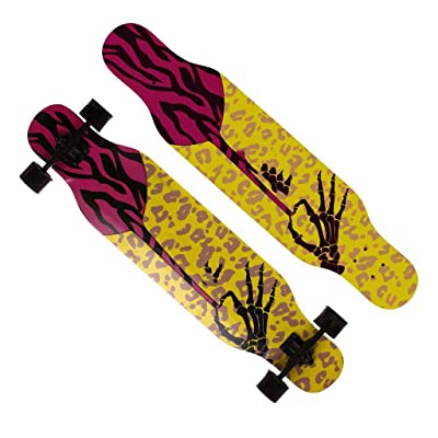 Aniseed Fractal Complete Skateboard Longboard 9.0 X 42.5-Inch Bone Intrigue Pattern : Sports & Outdoors