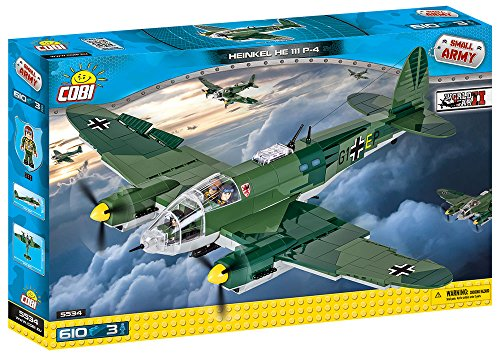 - COBI Small Army Heinkel He 111 Plane Building Kit