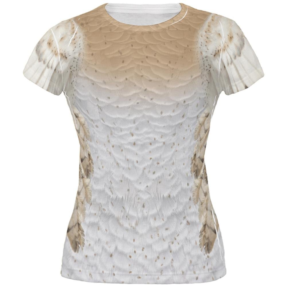 Animal World Halloween Barn Owl Costume All Over Juniors T Shirt 00173047