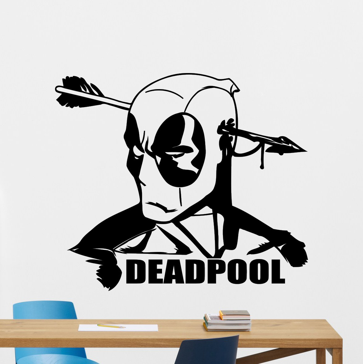 amazon com deadpool wall decal marvel comics superhero movie amazon com deadpool wall decal marvel comics superhero movie vinyl sticker cinema deadpool superhero wall art design housewares kids room bedroom decor