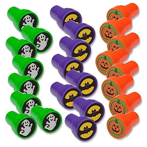 Halloween Stamps; Includes: Bats, Ghosts, Pumpkins Pack of