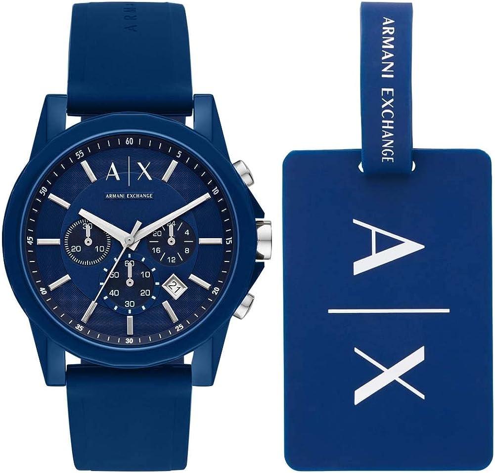 Armani Exchange Reloj Cronógrafo para Hombre de Cuarzo con Correa en Acero Inoxidable AX2084