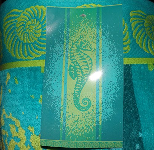 Kirkland Signature 100% Egyptian Cotton Beach Towel (Seahorse)