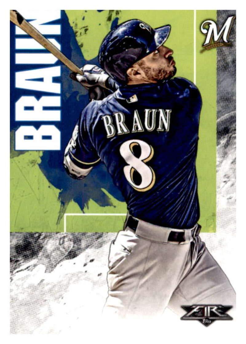 2019 Topps Fire #84 Ryan Braun Milwaukee Brewers Baseball Card