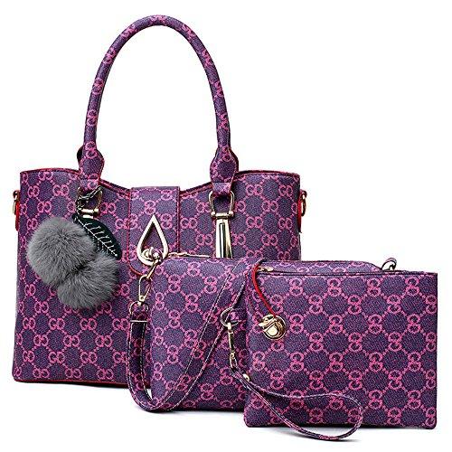 pour Pièces De Paquet La Mode Sac Violet Trois gpBXwqnw