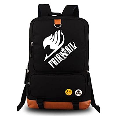 Gumstyle Anime Fairy Tail Luminous Large Capacity School Bag Cosplay Backpack Black and Blue | Kids' Backpacks