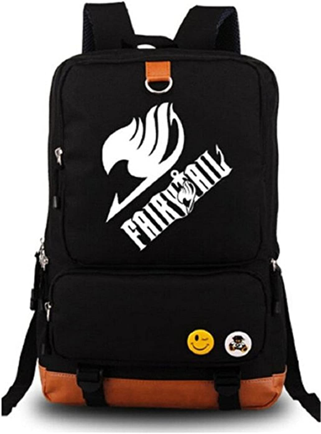 Gumstyle Anime Fairy Tail Luminous Large Capacity School Bag Cosplay Backpack Black and Blue