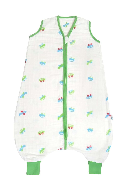 Schlummersack Musselin Schlafsack mit Füßen 0.5 Tog - Autos - Jungen - 3-4 Jahre/110 cm