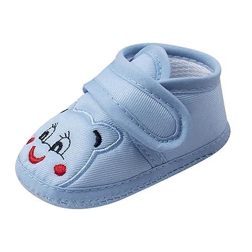 super popular e946e cd8bf FNKDOR Baby Neugeborene Schuhe, Mädchen Jungen Klettverschluss Weiche  rutschfest Lauflernschuh