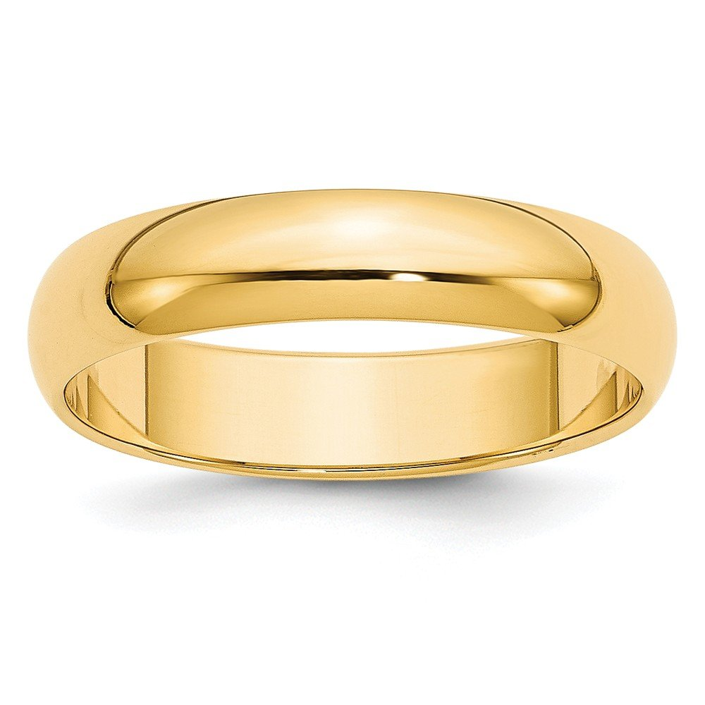 Jewelry Best Seller 14k 5mm Half-Round Wedding Band