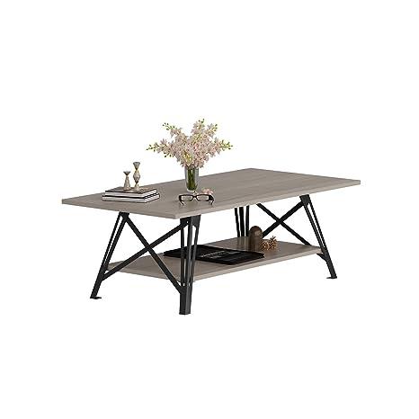 Maya Coffee Table.Amazon Com Decorotika Maya Industrial 47 Coffee Table With Storage