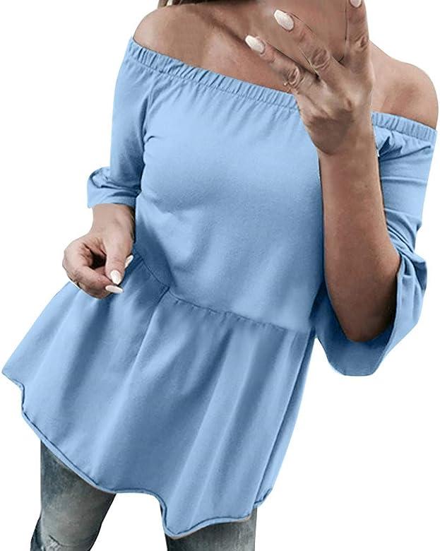 Yvelands Liquidación Mujeres Casual Hombro Camisa Tres ...