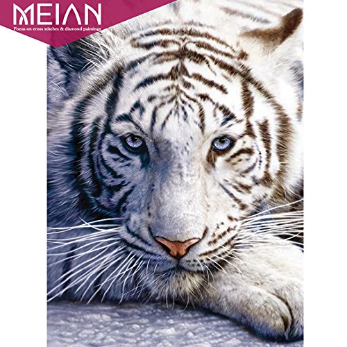 Meian Tiger 5D Diamond Painting Embroidery Needlework Crafts Christmas Gift