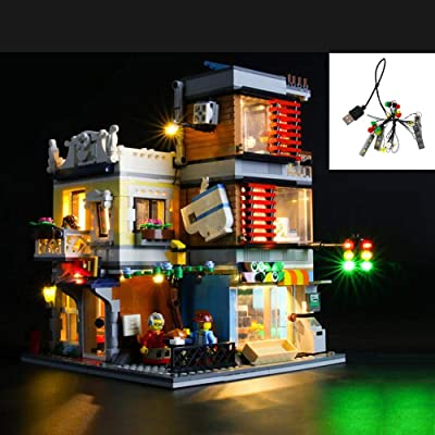 QJXF USB Light Set Compatible with Lego Creator Townhouse Pet Shop and Cafe 31097, LED Light Kit for Building Blocks Model (Not Included Model): Home & Kitchen