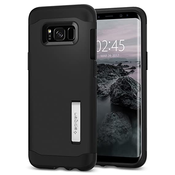 big sale 0df38 f6171 Spigen Slim Armor Designed for Samsung Galaxy S8 Plus Case (2017) - Black