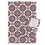 Cards Suit Flower Poker Tea Towels A Suit Of Flowers by Robyriker Set of 2 Linen Cotton Tea Towels