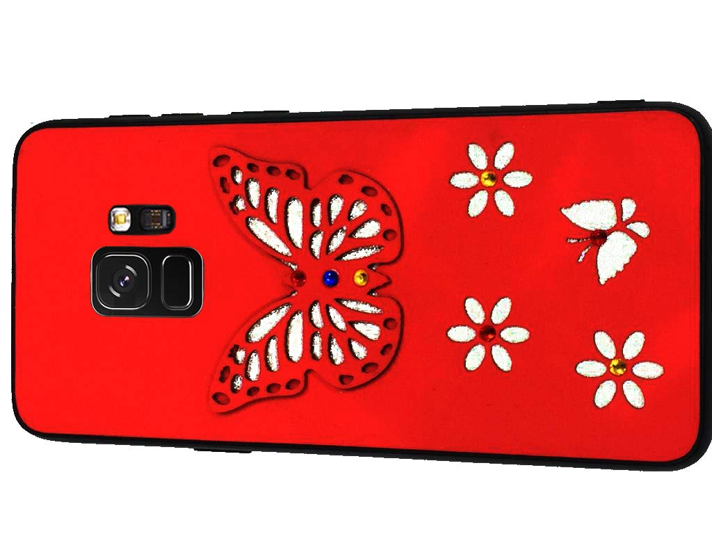 Red Back Cover For Samsung S9 Designed With Attractive Amazon In Electronics