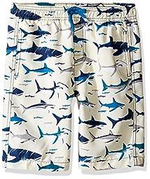 Hatley Big Boys\' Swim Trunks, Toothy Shark, 8