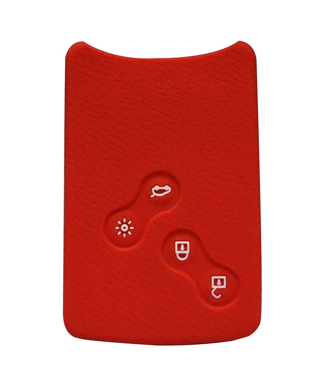 Happyit 4 Buttons Silicone Car Smart Key Cover Case for Renault Clio Scenic Megane Duster Sandero Captur Twingo koleos Remote Control (Black)