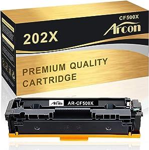 Arcon Compatible Toner Cartridge Replacement for HP 202X CF500X Toner Cartridge HP Laserjet Pro MFP M281fdw M254dw M281 M254dn M254nw M281fdn M281cdw M280nw M281 M254 Printer-1Pack Black