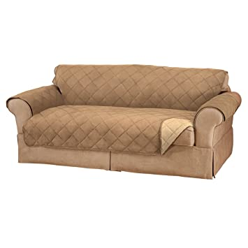 Amazon.com: Miles Kimball Naomi Suede-Microfiber XL Sofa ...