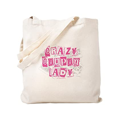 Amazon.com  CafePress - Crazy Coupon Lady - Natural Canvas Tote Bag ... 91a70a12b7