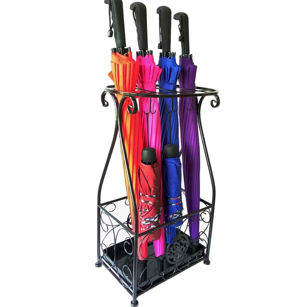 NN 傘立てクリエイティブファッションホテルロビーホーム錬鉄傘収納ビンフロアスタンド折りたたみ傘棚、57×23×31センチ 家の装飾 (Color : A) B07SW33N7K A