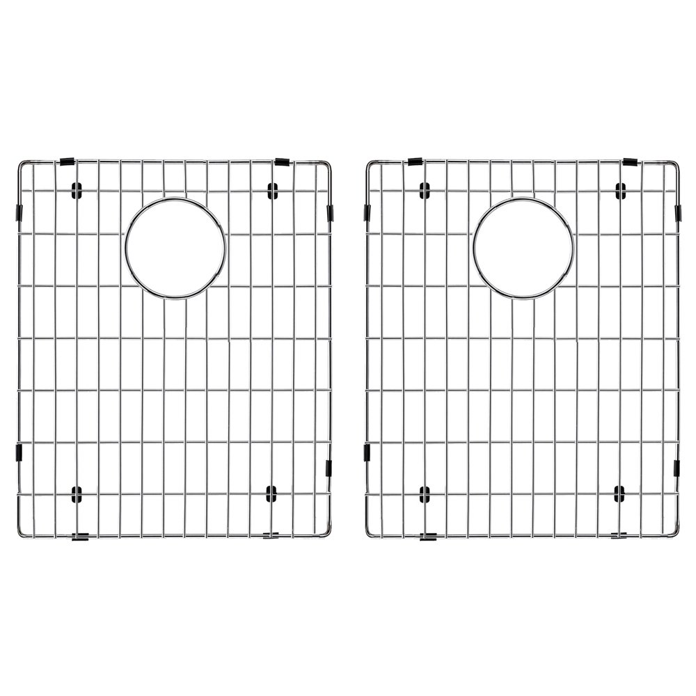 Transolid TSGRDE Radius Bottom Sink Grid 12.41'' L x 14.92'' W x 1'' H Stainless Steel