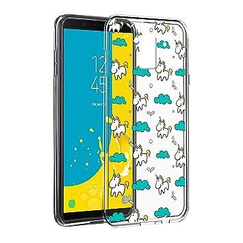 Eouine Funda Samsung Galaxy J6 2018, Cárcasa Silicona 3D Transparente con Dibujos Diseño Suave Gel TPU [Antigolpes] de Protector Case Fundas para ...