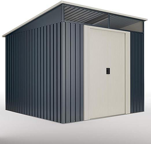 wasabi Caseta Metálica Stark 5, 6 m²: Amazon.es: Jardín