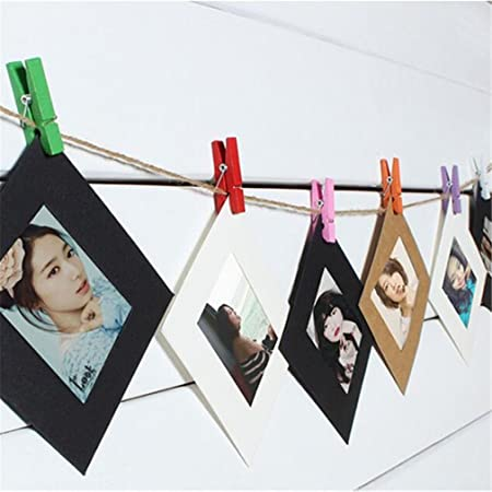 HENGSONG 10pcs DIY Hanging Paper Frame Photo Album With String Rope ...
