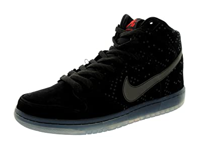 factory price 2cc67 67151 Nike SB Mens Dunk High Prem Flash Suede Fashion Sneakers Black 8.5 Medium  (D)