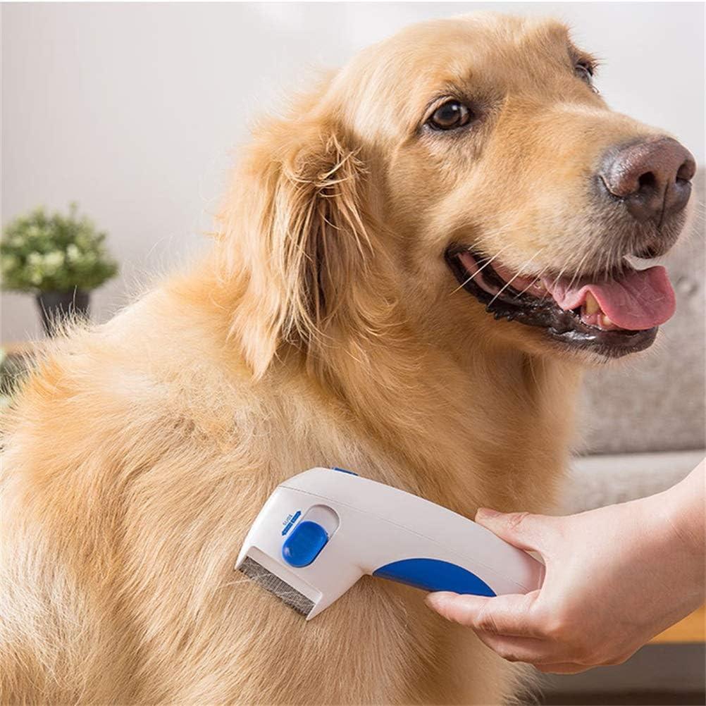 herramienta de eliminaci/ón de pulgas Edinber Peine el/éctrico para pulgas de perro