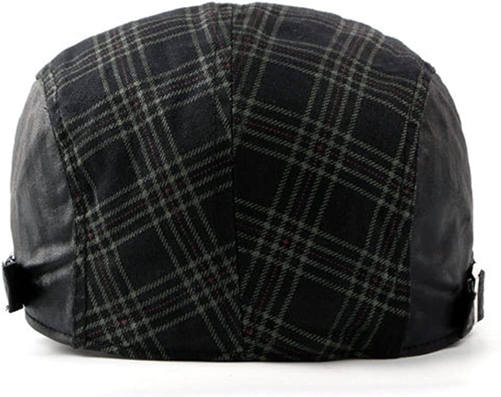LOCOMO Checker Check Plaid Tartan Newsboy Beret Cap Hat FFH032