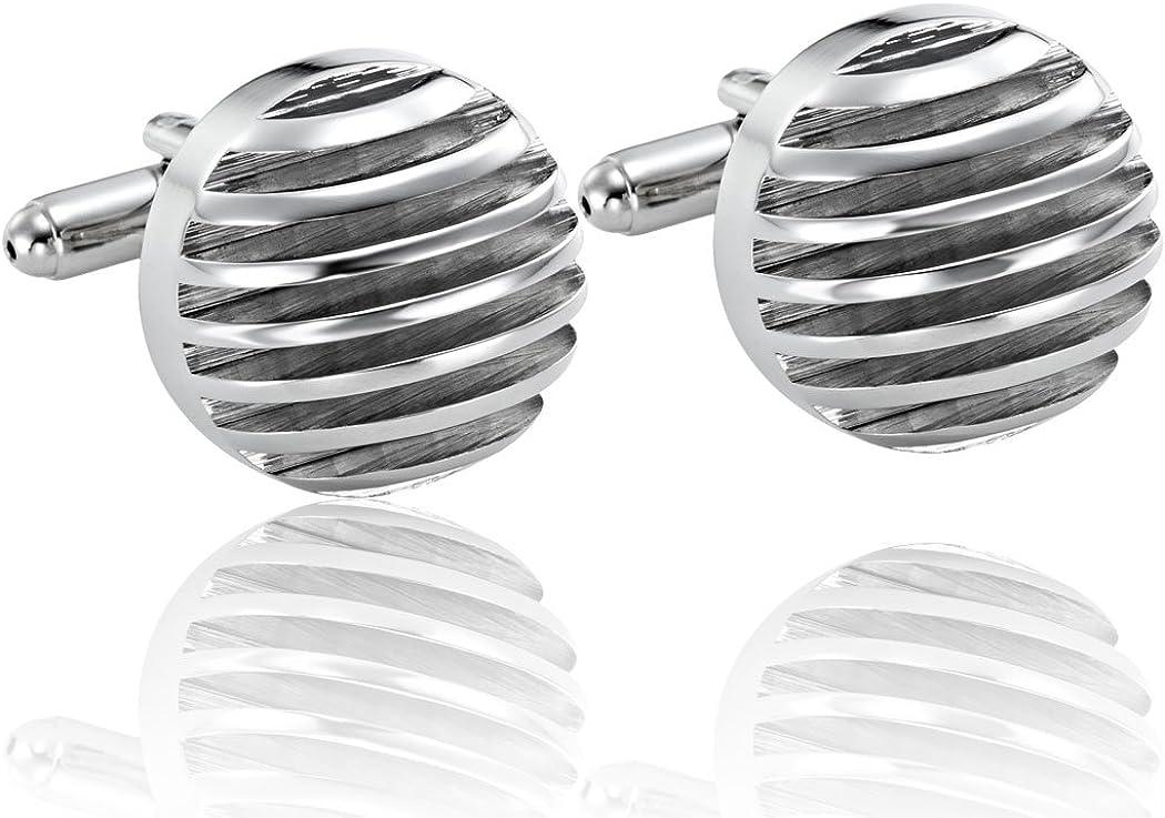 Urban-Jewelry Powerful 316L Stainless Steel Silver Half-Sphere Mens Cufflinks Cuff Links