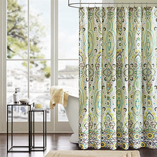 (Intelligent Design ID70-284 Tasia Shower Curtain 72x72 Green )