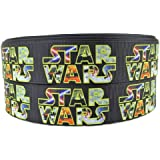"""Star Wars Movie Title Logo 1"""" Wide Repeat Ribbon Sold in Yard Lots (5 yards)"""