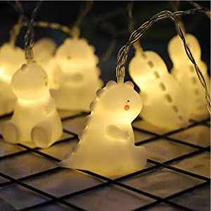 NIWWIN 1.8M 10 LED Children's Room Animal Cute Dinosaur LED String Lights for Holiday Lights Wall Window Tree Decorative Lights Party Yard& Garden Kids Bedroom Living-Room Dorm Decor (Dinosaur)
