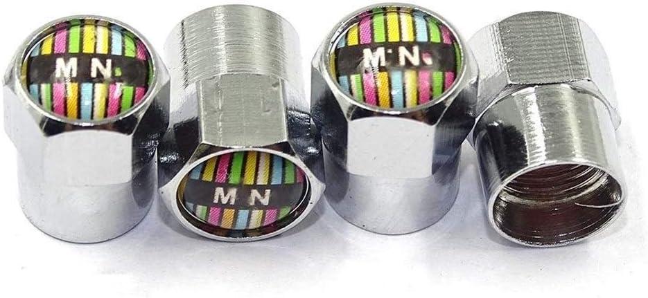 Color : Black C Keine Marke Gro/ßhandelsventilkappen Zubeh/ör for 6 Ecken Rad-Reifen-Ersatzteile Ventilkappen-Abdeckung for Mini Cooper Clubman Ryman R55 R56 R60 F54 F55 F56 F60