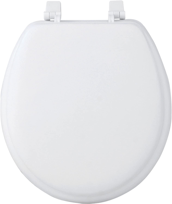 Fantasia 17 Round Soft Vinyl Foam Cushioned Padded Toilet Seat White