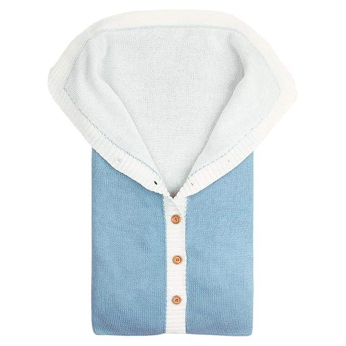 Silverone Saco De Dormir para Bebés Recién Nacidos Botones Cute Knitted Blanket Stroller Sleepsacks: Amazon.es: Ropa y accesorios