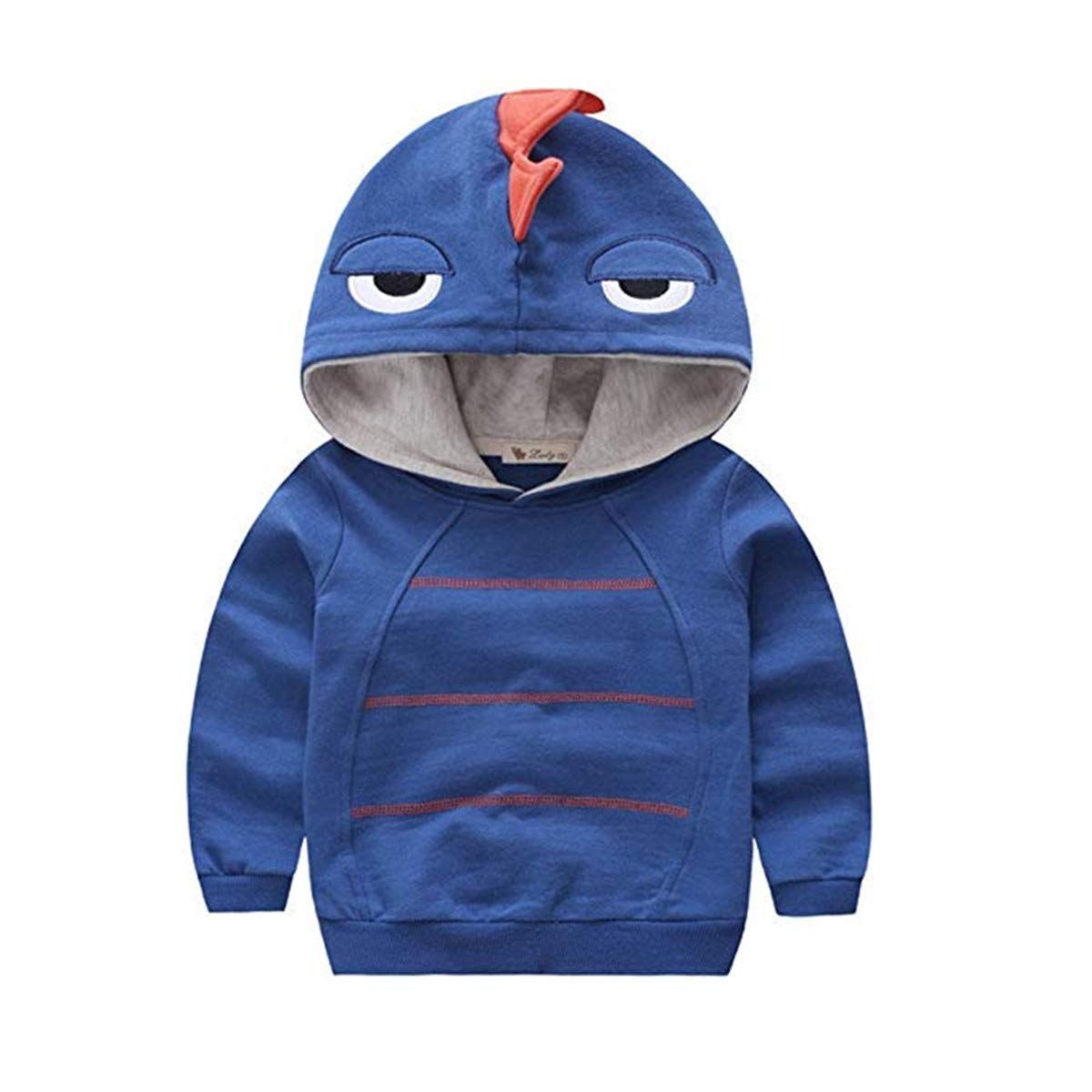 Canvos Little Boys Autumn Long Sleeve Dinosaur Toddler Hoodie Pullover Clothes BC0283